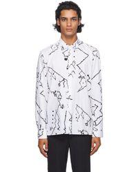 メンズ Neil Barrett ホワイト & ブラック Fine Vintage シャツ White