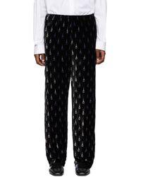 メンズ Balenciaga ブラック パジャマ スーツ トラウザーズ Black