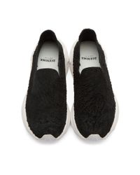 Diemme Black And White Suede One Slip-on Sneakers