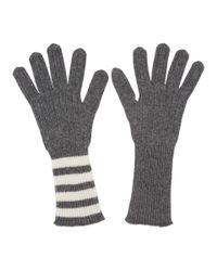 Gants en cachemire cotele gris Four Bar Thom Browne pour homme en coloris Gray