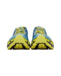 メンズ Hoka One One ブルー And イエロー Evo Mafate 2 スニーカー Multicolor