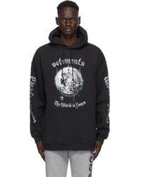 メンズ Vetements Mötorhead Edition ブラック The Wörld Is Yours フーディ Black