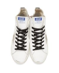 Golden Goose Deluxe Brand White And Black Francy Sneakers for men