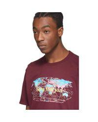 メンズ Sies Marjan Amo Edition バーガンディ ロゴ Colorworld T シャツ Red
