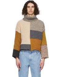 メンズ Eckhaus Latta マルチカラー セーター Multicolor
