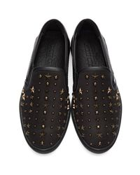 Jimmy Choo - Black Star Grove Slip-on Sneakers for Men - Lyst