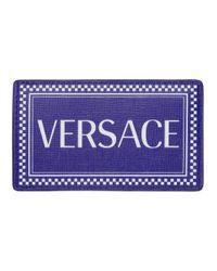 Porte-cartes bleu et blanc 90s Vintage Versace pour homme en coloris Blue