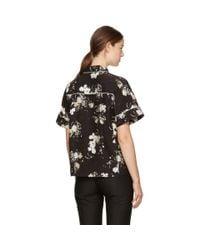 Erdem - Black & Ecru Liana Shirt - Lyst