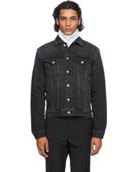 メンズ 1017 ALYX 9SM ブラック デニム コレクション ステッチ ジャケット Black