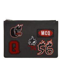 Pochette pour tablette noire Varsity Badge McQ Alexander McQueen pour homme en coloris Black