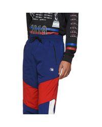 メンズ Alexander Wang ネイビー オリンピック トラック パンツ Blue
