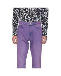 メンズ Martine Rose パープル ストレートレッグ ジーンズ Purple