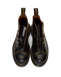 メンズ Dr. Martens ブラック チャーチ クアッド ブーツ Black