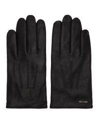 Gants noirs Hinez3 BOSS by Hugo Boss pour homme en coloris Black