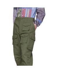 メンズ Engineered Garments グリーン コットン カーゴ パンツ Green