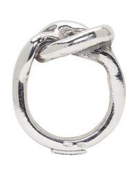 Emanuele Bicocchi   Metallic Silver Knot Ring for Men   Lyst