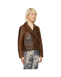 Acne Black Brown Leather New Merlyn Jacket