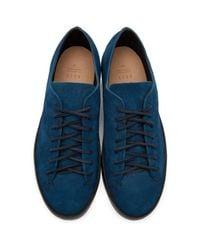 Feit Blue Navy Hand Sewn Sneakers for men