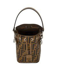 Fendi Brown And Black Mini Mon Tresor Forever Bag