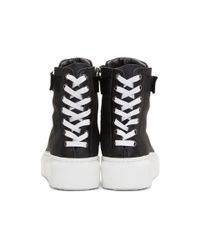 Dbyd - Black Back Shoelace High-top Sneakers for Men - Lyst
