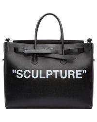 Off-White c/o Virgil Abloh Black Xl 'sculpture' Cut Flap Tote