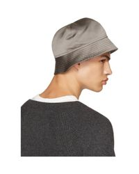 Rick Owens Gray Grey Gilligan Bucket Hat for men