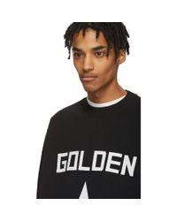 メンズ Golden Goose Deluxe Brand ブラック And ホワイト スター スウェットシャツ Black