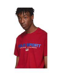 メンズ Polo Ralph Lauren レッド クラシック フィット Polo Sport T シャツ Red