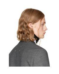 J.W. Anderson - Black Wool Neckband Collar for Men - Lyst