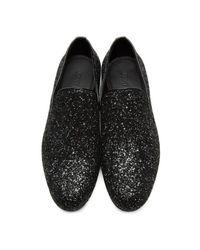 Jimmy Choo - Black Velvet Glitter Devore Sloane Loafers for Men - Lyst