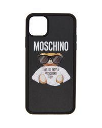 メンズ Moschino ブラック ベア Iphone 11 Pro Max ケース Black