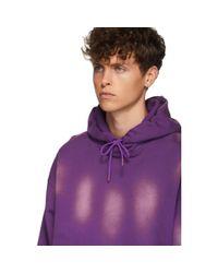Pull a capuche mauve Sunbleach Classic Martine Rose pour homme en coloris Purple