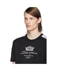 メンズ Dolce & Gabbana ブラック And ホワイト Millennials Star T シャツ Black