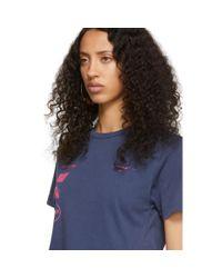 T-shirt mauve Marina De Silva Off-White c/o Virgil Abloh en coloris Blue