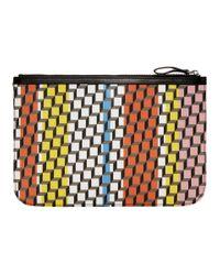 Pierre Hardy マルチカラー ラージ Cube ポーチ Multicolor