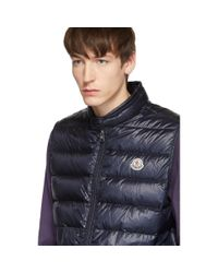 Moncler Blue Navy Down Gui Vest for men