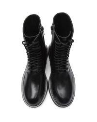 Ann Demeulemeester Black Calfskin Boots for men