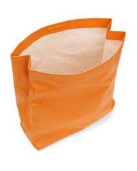 Simon Miller オレンジ ラージ ランチ バッグ 30 クラッチ Orange