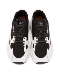 Adidas Originals ブラック And ホワイト ファルコン トレイル スニーカー Black