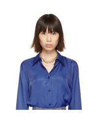 Isabel Marant ゴールド Lucky ネックレス Blue