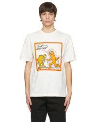 メンズ Etudes Studio Keith Haring エディション オフホワイト Wonder T シャツ Multicolor