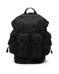 メンズ Yohji Yamamoto New Era Edition ブラック ユーティリティ バックパック Black
