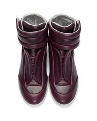 Maison Margiela Purple Burgundy & Silver Future High-top Sneakers for men