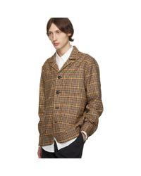 Blouson a carreaux multicolore Overshirt Schnayderman's pour homme