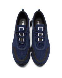 メンズ Prada ネイビー ニット クラウドバスト スニーカー Blue