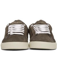 Saint Laurent Brown Suede Sl/06 Court Classic Sneakers for men