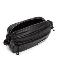 メンズ A.P.C. ブラック フェイクレザー プロテクション カメラ バッグ Black