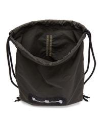 Rick Owens Drkshdw Gray Grey Murray Drawstring Backpack for men