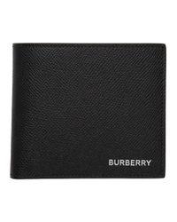 メンズ Burberry ブラック インターナショナル バイフォールド ウォレット Black