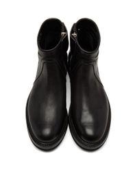 Rick Owens Black Low Creeper Zip Boots for men